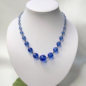 Jewelry - Luminous Blue-Violet Bead Necklace